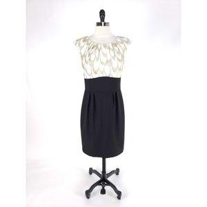 Trina Turk Metallic Pleated Shimmer Dress